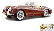 Bburago - Jaguar XK 120 Roadster Auto storica 1 24 (argento / Rosso)