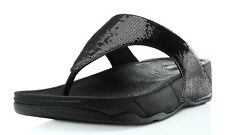 NEW FitFlop Electra Thong Sandals - Black Sequins, Women Size 10, $100