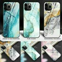 New Tempered Glass Phone Case For iPhone 11 Pro Max Cover Luxury TPU Hard Cases