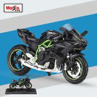 New Miniature Maisto 1:18 Scale Kawasaki Ninja H2 R Motorcycle Diecast Model