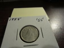 1955 - Canada 10 cent - Canadian silver dime -