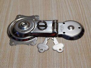 Vintage Trunk Steamer Lock Trunk Foot Locker Nickel Plated With Keys
