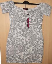 Motel Rocks Debbie Dress Paisley White & Grey BNWT Size: Large