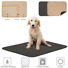 Reusable Pet Pee Training Absorbent Pad Washable Dog Cat Pee Puppy Urine Mat S-L