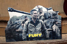 "Brad Pitt in US Army WW2 Movie ""Fury"" Tabletop Display Standee 10 3/4"" Long"