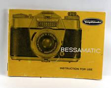 Voigtlaender Bessamatic Deluxe Instruction Booklet