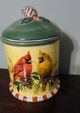 Lenox Winter Greetings Red Ribbons&Holly, Birds Cookie Jar