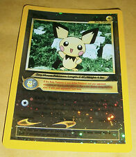 POKEMON BLACK STAR PROMO CARD - #35 PICHU (REV HOLO)