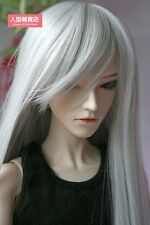 BJD Doll Hair Wig 9-10 inch 22-24cm 1/3 SD DZ DOD LUTS Silver grey Straight long