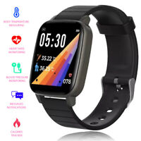 Indigi Bluetooth Smart Watch Body Temperature Monitor Long Standby Android IOS
