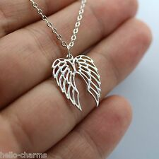ANGEL WINGS CHARM NECKLACE 925 Sterling Silver Angel Wing Faith Jewelry Memorial