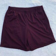 Mens Champion Size XL Extra Large Burgundy Maroon Mesh Athletic Shorts