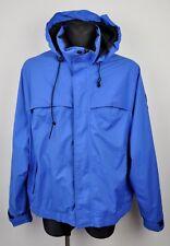 GERRY Vintage GORETEX Jacket Men's XL Short Retro Blue Hooded Rain Waterproof