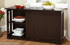 Kitchen Storage Island Cabinet Wood Buffet Top Cupboard Counter Utility Table