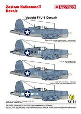 Techmod Decals 1/72 VOUGHT F4U-1 BIRDCAGE CORSAIR Fighter