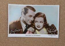 Cary Grant & Joan Bennett Art Photo Real photo postcard no 1275 xc2