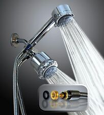 WantBa High Pressure 5 Setting Massage Shower Head Dual 3-way-combo 6 Feet Hose