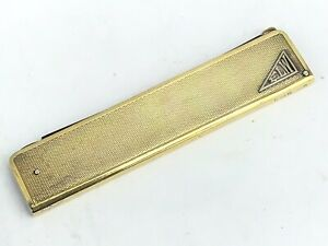 Excellent Art Deco Silver Gilt Moustache Comb and Holder, Sprung Loaded, 1933