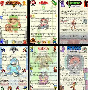 Classic Nintendo Music Game 8-bit Art 11 x 17 (6) High Quality Posters