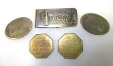 5 Modern Coca Cola Medals & Money Clip Lot 410F