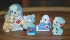 Hallmark Valentines Dog & Cats Merry Miniatures Set of 4