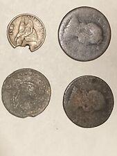 4 Coin Lot- Varoius Damage 1800's