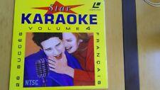 LASER DISC KARAOKE VOLUME 4 (26 SUCCES EN FRANCAIS) EXCELLENT ETAT + LIVRAISON