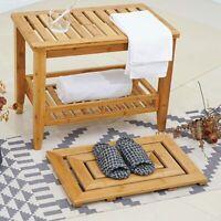 Luxury Bamboo Bath Mat Slatted Wood Wooden Pattern Duck Board Bathroom Bench US