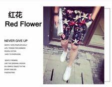 Men's Wear 3D Red Flower Full Print Beach Shorts - MjFashion
