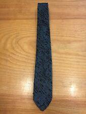 Men's Vintage Tie Handcrafted in NEPA Allentown - Blue Black Polyester