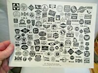 "vintage Railway Trademark Logos B&W 8""x10"" Print that is in good shape NR"