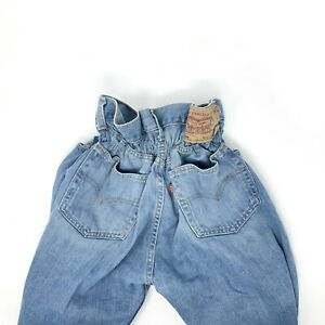 LEVI'S Jeans Caramella Jeans Donna a vita alta Levis Vintage Made in Italy Tg. L