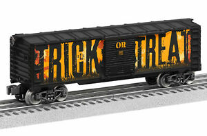 LIONEL 1928380 TRICK or TREAT HALLOWEEN ELX SOUNDS BOXCAR TOY TRAIN O GAUGE NEW