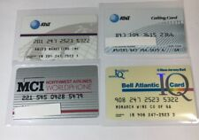 4 Vintage Expired Credit Cards For Collectors -  Phone Calling Card Lot  (7134)