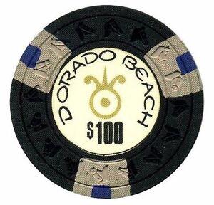 $100 DORADO BEACH Hotel Casino DB BlkGraBlu poker Chip Puerto Rico HORSE mold
