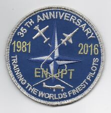 "USAF Patch 35th ANNIVERSARY, EURO-NATO JOINT JET PILOT TRAINING PROGRAM, 4"" Size"