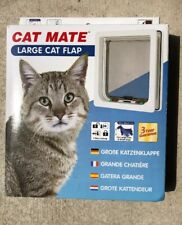New Cat Mate Large Cat and Small Dogs Door Flap White Ref 221W