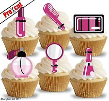 PRE-CUT GIRL WOMEN ACCESSORIES III. EDIBLE WAFER CUP CAKE TOPPER DECORATION