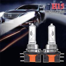 2Pcs 12V 15/55W High/Low Beam H15 Halogen Car Healight Bulbs Daytime DRL Light