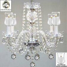 """Crystal Chandelier with Candle Votives H17"""" x W17"""" - For Indoor / Outdoor Use!"""