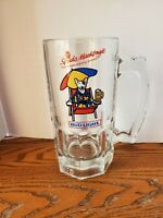 "SPUDS MACKENZIE "" PARTY ANIMAL"" BUD LIGHT BEER MUG--1987 Bonus Glass"