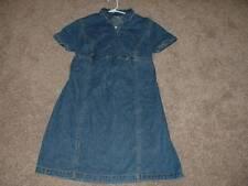 Motherhood Maternity Blue Denim Dress Size L Large Womens Spring Fall Clothes