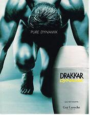 PUBLICITE ADVERTISING 114  1999  GUY LAROCHE  Eau de toilette homme DRAKKAR