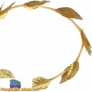 Greek Roman Headband Gold Leaf Adults Childs Fancy Dress Costume Accessory