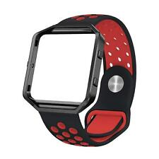 Silicone Bands Compatible Fitbit Blaze Sport Replacement Wristband Metal Frame