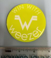 Weezer 2001 Green Album Win With Big promotional button/badge New Old Stock