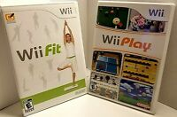 Nintendo Wii Fit and Wii Play Games, Complete with Manuals