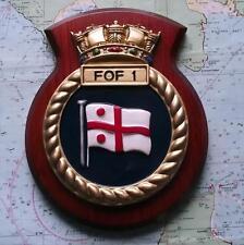 Oak HMS BANDIERA UFFICIALE 1st FLOTTIGLIA dipinto Royal Navy Ship STEMMA SCUDO TARGA