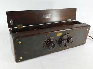Atwater Kent Model 30 Vintage Tube Radio w/ Tubes (looks good, untested)