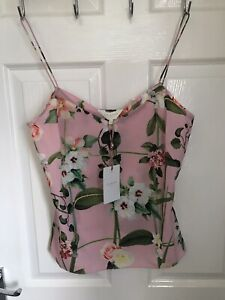 STUNNING GENUINE LADIES TED BAKER SUMMERY CAMI TOP SIZE SMALL BRAND NEW TAGGED